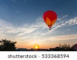 color balloon and sunrise with... | Shutterstock . vector #533368594