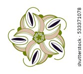 the one flower vector pattern... | Shutterstock .eps vector #533371078