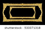 old decorative gold frame  ... | Shutterstock . vector #533371318