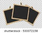 set of square old vintage... | Shutterstock .eps vector #533372158
