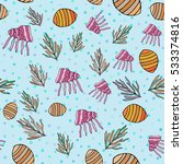 Seamless Pattern With  Shell ...