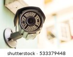 cctv security camera at... | Shutterstock . vector #533379448