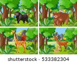 four forest scene with wild... | Shutterstock .eps vector #533382304