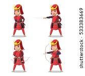 japan samurai red armor...   Shutterstock .eps vector #533383669
