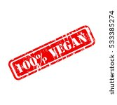vegan stamp sign text red. | Shutterstock .eps vector #533385274