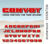 vector poster font. condensed... | Shutterstock .eps vector #533387236