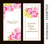 vintage delicate invitation... | Shutterstock . vector #533387923