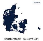 map of denmark. vector. | Shutterstock .eps vector #533395234