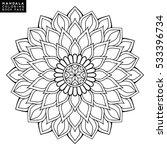 flower mandala. vintage... | Shutterstock .eps vector #533396734