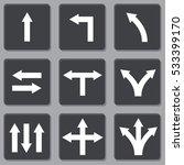 simple white arrow vector icon... | Shutterstock .eps vector #533399170