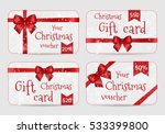 set of christmas ornamental... | Shutterstock .eps vector #533399800