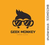geek monkey logo template. | Shutterstock .eps vector #533401348