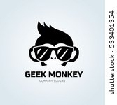 geek monkey logo template. | Shutterstock .eps vector #533401354
