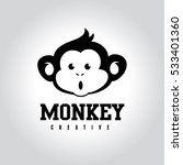 monkey logo template. | Shutterstock .eps vector #533401360