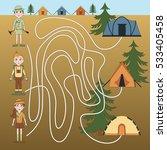 children's game  maze   take... | Shutterstock .eps vector #533405458
