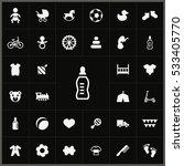 baby  kids icons universal set... | Shutterstock . vector #533405770
