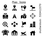 map icons | Shutterstock .eps vector #533412370