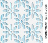 seamless flower pattern.... | Shutterstock .eps vector #533412958