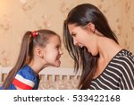 mother and daughter make each... | Shutterstock . vector #533422168