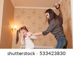 mother hit her ldaughter with... | Shutterstock . vector #533423830
