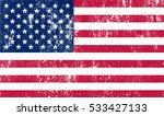 grunge american flag.vector... | Shutterstock .eps vector #533427133