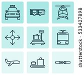 set of 9 vehicle icons. can be...