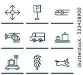 set of 9 shipping icons. can be ... | Shutterstock .eps vector #533428900