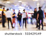 abstract blur people shopping... | Shutterstock . vector #533429149