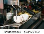 preparation of drink in the... | Shutterstock . vector #533429410