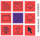 set of 9 internet icons. can be ...