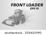front loader from the particles.... | Shutterstock .eps vector #533431990