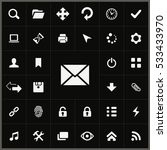 mail icon. app icons universal... | Shutterstock . vector #533433970
