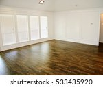 dark hardwood floor in... | Shutterstock . vector #533435920