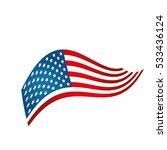 united states of america flag   Shutterstock .eps vector #533436124