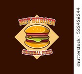 burger logo badge | Shutterstock .eps vector #533436244