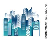 great city buildings icon | Shutterstock .eps vector #533439070