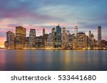 new york city   famous... | Shutterstock . vector #533441680