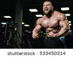 brutal strong athletic men... | Shutterstock . vector #533450314