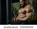 brutal strong athletic men... | Shutterstock . vector #533450350