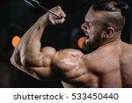 brutal strong athletic men... | Shutterstock . vector #533450440