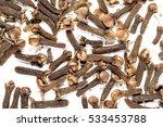 cloves spices on white...   Shutterstock . vector #533453788