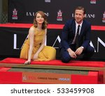 Small photo of LOS ANGELES - DEC 7: Emma Stone, Ryan Gosling at the Emma Stone & Ryan Gosling Hand and Foot Print Ceremony at TCL Chinese Theater on December 7, 2016 in Los Angeles, CA