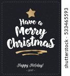 christmas greeting card with... | Shutterstock .eps vector #533465593