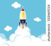 rocket ship launch | Shutterstock . vector #533469214
