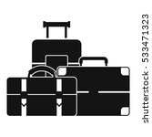 baggage icon. simple... | Shutterstock .eps vector #533471323