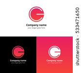 letter cg logo icon flat and... | Shutterstock .eps vector #533471650