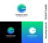 letter cg logo icon flat and... | Shutterstock .eps vector #533471680