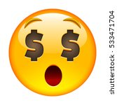 about money surprised face.... | Shutterstock . vector #533471704