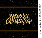 merry christmas phrase in frame ... | Shutterstock . vector #533472730