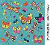 colorful doodle collection of... | Shutterstock .eps vector #533474020
